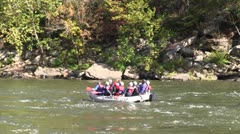 White water rafting and kayaking on the New River - stock footage