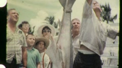 Ocean Fishing Butcher Dead Shark on Display 1950s Vintage Film Home Movie 940 Stock Footage