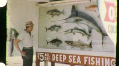Going Deep Sea Fishing, Florida Circa 1955 (Vintage Film Home Movie) 941 - stock footage