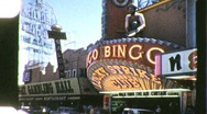 "Stock Video Footage of ""Downtown"" Las Vegas Nevada Circa 1957 (Vintage 8mm Home Movie Footage) 943"