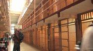 Alcatraz Prison Cells6 Stock Footage