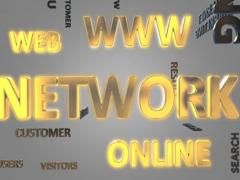Internet Marketing Word Cloud - stock footage