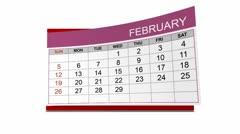 2012 desk calendar, alpha included - stock footage