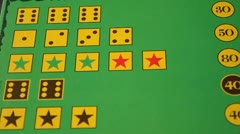 Red casino dice and game field Stock Footage