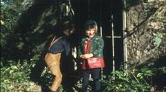 Hansel and Gretel (Vintage 8 mm amateur film) Stock Footage
