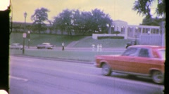 JFK Kennedy Assassination Site Dealy Plaza, 1960s Vintage Film Home Movie 949 Stock Footage