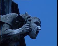 The Holy Cross Cathedral of Schwabisch Gmund. Gargoyle 4 Stock Footage