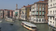 Timelapse of boats and gondolas in Venice, Italy Stock Footage