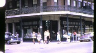 Stock Video Footage of STREET SCENE GREAT DEPRESSION New Orleans 1930s (Vintage Film Home Movie) 953