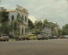 Road and buildings in Cooktown Stock Footage