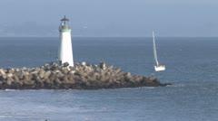 Santa Cruz Lighthouse 2 Stock Footage
