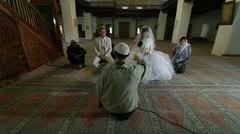 Wedding Ceremony of Crimean Tatars in Mosque Stock Footage