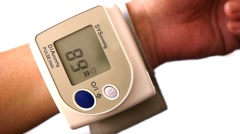 HD - Blood pressure monitor Stock Footage