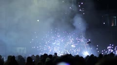Correfoc - Fire parade in Barcelona Stock Footage