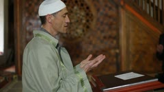 Praying  in  mosque Stock Footage