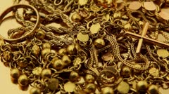 Gold Jewelry - stock footage