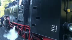 Old Steam Locomotive 20111016 141409 Stock Footage