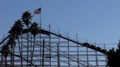 Stock Video Footage of Santa Cruz Roller Coaster