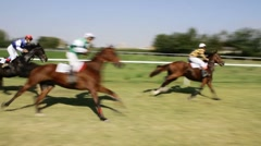 Racing horses. Stock Footage