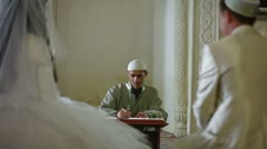 Muslim Marriage in Mosque Stock Footage