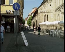 Schwabisch Gmund. street 2 Stock Footage