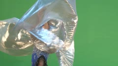 belly dancer and prop - stock footage