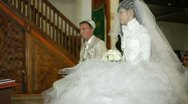 Islamic wedding ceremony Nikah in  mosque Stock Footage