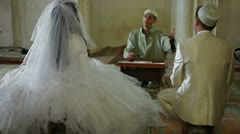 Nikah of Crimean Tatars in Mosque Stock Footage