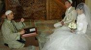 Muslim wedding ceremony Nikah in Mosque Stock Footage