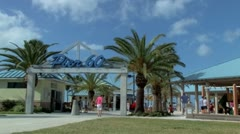 Pier 60 Entrance Clearwater Beach, Florida Stock Footage