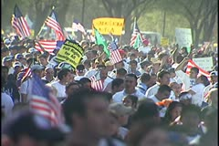 Rally April 10, 2006, Immigration Rally Stock Footage
