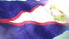 3d flag American Samoa loop 1080p Stock Footage