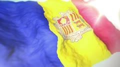 3d flag Andorra loop 1080p Stock Footage