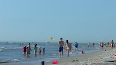 Swimmers enjoy Spring Break at Clearwater Beach, Florida Stock Footage