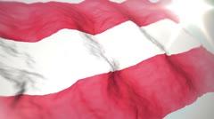3d flag Austria loop 1080p Stock Footage