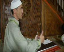 Mullah  in  mosque - stock footage