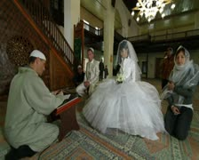 Mullah at Wedding Ceremony Nikah in Mosque Stock Footage