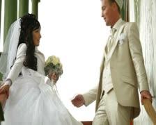 Crimean Tatar newlyweds - stock footage