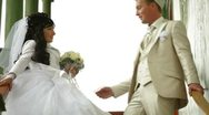 Stock Video Footage of Crimean Tatar newlyweds