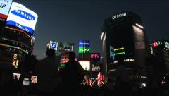 Tokyo Shibuya - Zoom Out - Nigh Scene 7 Stock Footage