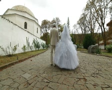 Muslim Wedding in Bakhchisarai Palace Stock Footage