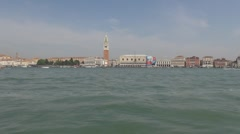 Timelapse View to San Marco Square and Palazzo Ducale Stock Footage