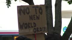 Occupy Wall Street Protest Sign Stock Footage