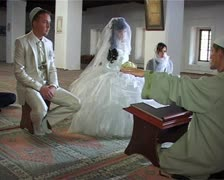 Wedding of Crimean Tatars in Mosque Stock Footage