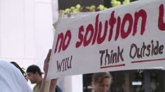 No Solution Under Capitalism Stock Footage