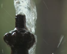 Close up of fountain Stock Footage