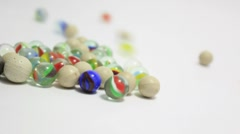Marbles rolling _5 Stock Footage