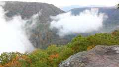 fog in the gorge - stock footage