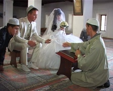 Muslim wedding ceremony Nikah in Mosque Stock Footage