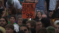 Occupy Wall Street: State Employee - stock footage